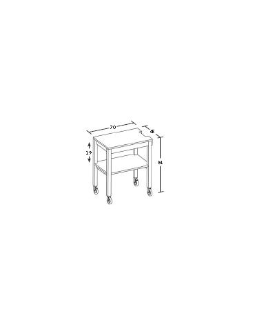 Carrello in legno laccato - antracite/panna/tortora - Dimensioni 70x45x84h
