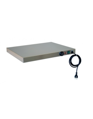 Piano caldo inox per riscaldare GN 1x1/1 cm 33x53x6h