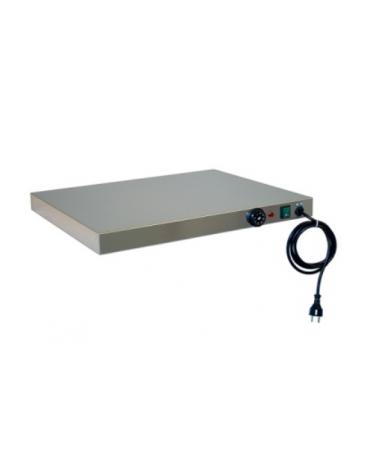 Piano caldo inox per riscaldare GN 2x1/1 cm 66x53x6h