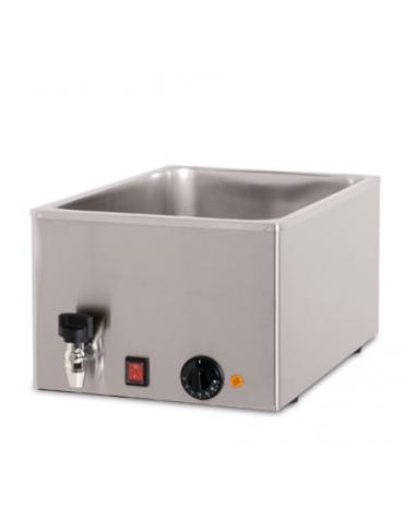 Tavola calda da banco in acciaio inox - capacità 1 x 1/1 GN cm 34x54x25h