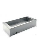 Tavola calda da banco in acciaio inox - capacità 1 x 1/1 GN cm 49x60x34h