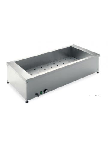 Tavola calda da banco in acciaio inox - capacità 2 x 1/1 GN cm 81x60x34h