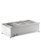 Tavola calda da banco in acciaio inox - capacità 3 x 1/1 GN cm 114x60x34h