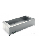 Tavola calda da banco in acciaio inox - capacità 4 x 1/1 GN cm 153x60x34h