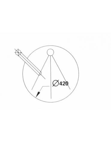 Lavello incassato diametro cm. 42 con miscelatore a gomito