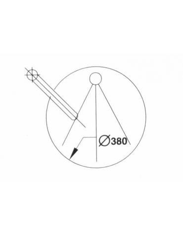 Lavello incassato diametro cm. 38 con miscelatore a gomito
