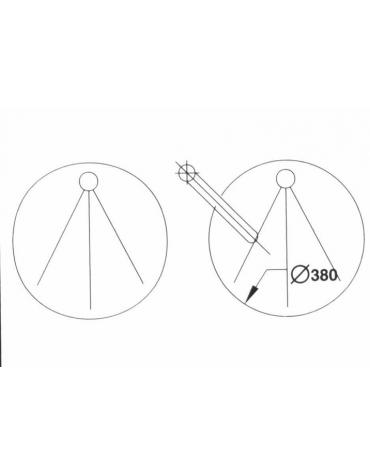 N° 2 Lavelli incassati diametro cm. 38 con miscelatore a gomito