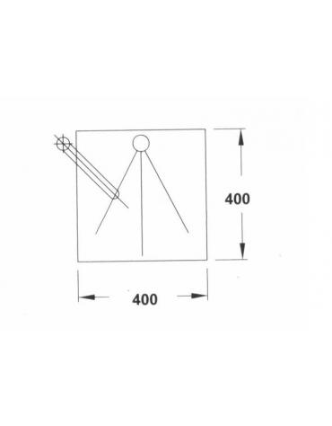 Lavello quadrato cm. 40x40x20h con miscelatore a gomito