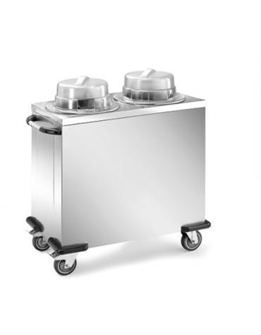 Sollevatore piatti - 2 colonne neutre regolabili - portata circa 130 piatti ø 19÷26 cm 110x56x90h