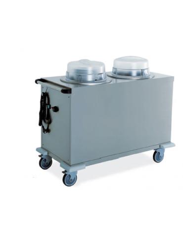 Sollevatore piatti - 2 colonne neutre regolabili - portata circa 130 piatti ø 27÷33 cm 110x56x90h