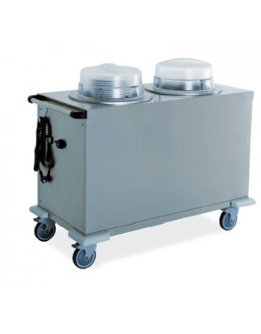 Sollevatore piatti - 2 colonne neutre - col. fissa - portata circa 130 piatti ø 26 cm 110x56x90h
