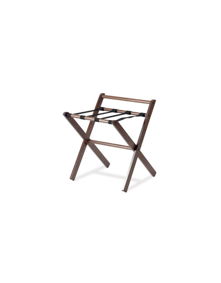 Reggivaligie in legno colore noce scuro con sponda cm - Portabiti in legno ...