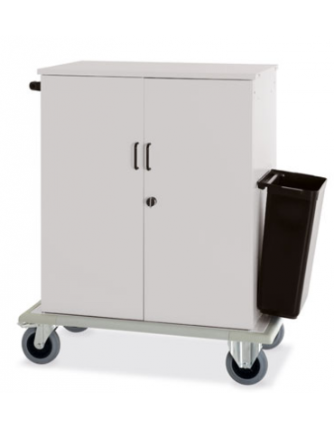 Carrello per rifornimento minibar frigobar cm 100x62x119h