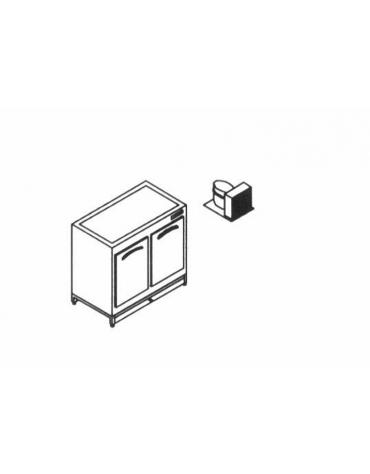 Base retro refrigerato da cm. 100