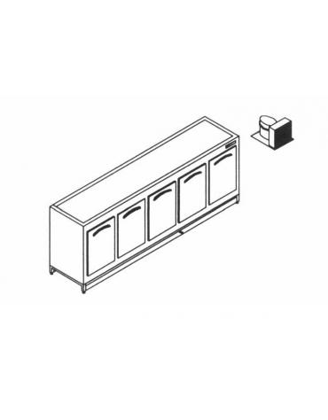 Base retro refrigerato da cm. 250