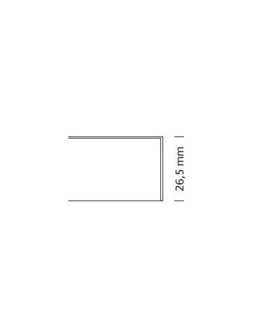 Piano per tavolo tondo in laminato con bordo in laminato Diametro cm 100