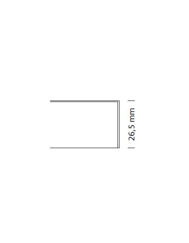 Piano per tavolo tondo in laminato con bordo in laminato Diametro cm 110