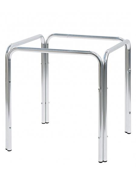 Gambe Alluminio Per Tavoli.Base Con Struttura In Alluminio A Quattro Gambe Per Piano Quadrato Cm 70x70x71h