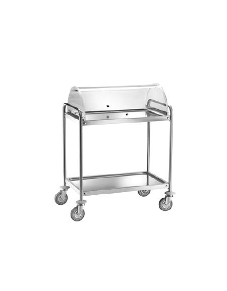 Carrello di servizio in acciaio inox 2 piani stampati con for Piani di cupola pdf