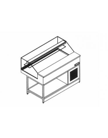 Vetrina fredda vetri dritti bassi da cm. 150 - Refrigerazione statica