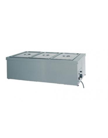 Tavola calda da banco inox con resistenza a secco - capacità 1x 1/1 GN cm 49x60x32h