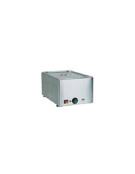 Tavola calda da banco inox bagnomaria - capacità 1x 1/1 GN cm 54x33x22h