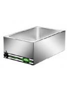 Tavola calda da banco inox bagnomaria - capacità 1x 1/1 GN cm 57x37x22h