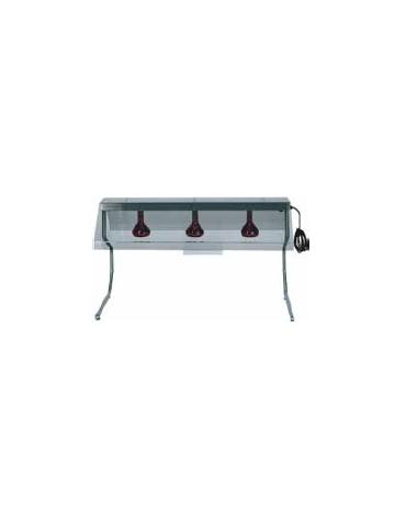 Telaio in inox con 1 lampada a raggi infrarossi cm 45x55x70h