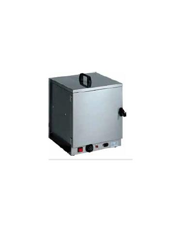 Cassetta termica scaldapiatti per carrelli breakfast. costruita interamente in acciaio inox cm 39x37x46h