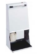 Macchina pulisci scarpe due spazzole, colore Bianco. Cm 42x30x83h