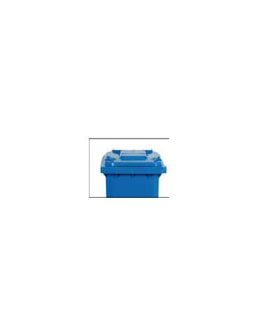 Pattumiera per raccolta differenziata. Contenitore in polietilene. Litri 120. Ruote cm 20 cm 55x48x93h
