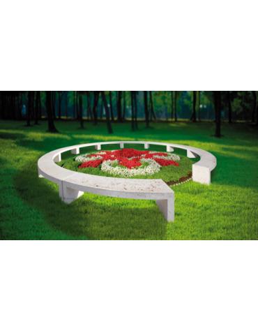 Panchina curva modulare (singolo modulo) cm 205x50x50 cerchio Øcm 800