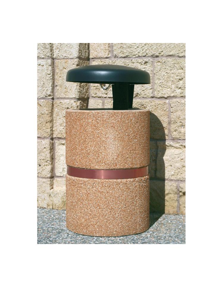 Cestone portarifiuti in cemento con coperchio a ribalta for Cestini portarifiuti arredo urbano prezzi
