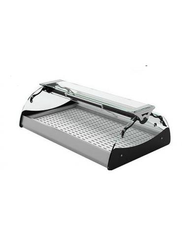 Vetrina riscaldata a secco - apertura self service - illuminazione al led - mm695x670x300h