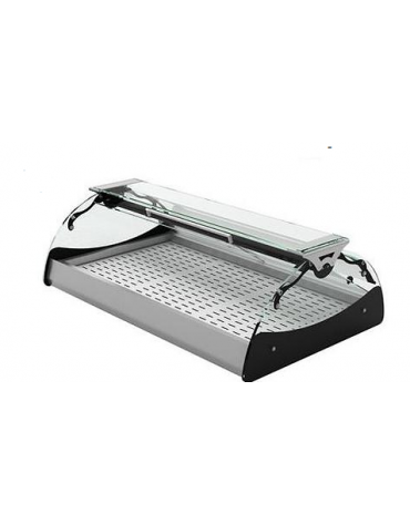 Vetrina riscaldata a secco - apertura self service - illuminazione al led - mm1020x670x300h