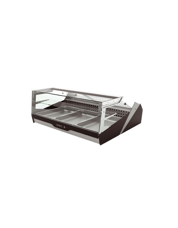 Vetrina refrigerata statica 3 contenitori gn1 1 2 for 2500 piani quadrati di 2 piani