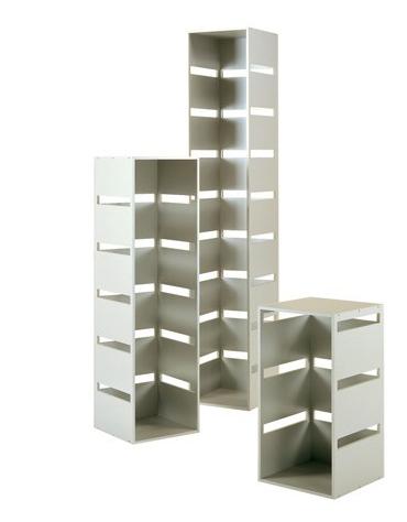Colonna laminato con tre tagli - colore silver - Dimensioni cm 40 x 40 x 77h