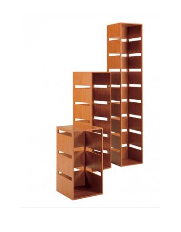Colonna laminato con tre tagli - colore ciliegio - Dimensioni cm 40 x 40 x 77h