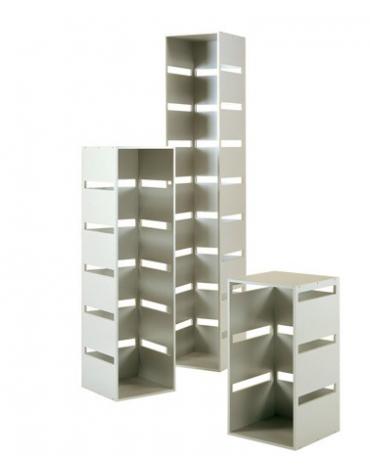 Colonna laminato con 5 tagli - colore silver - Dimensioni cm 40x40x142h
