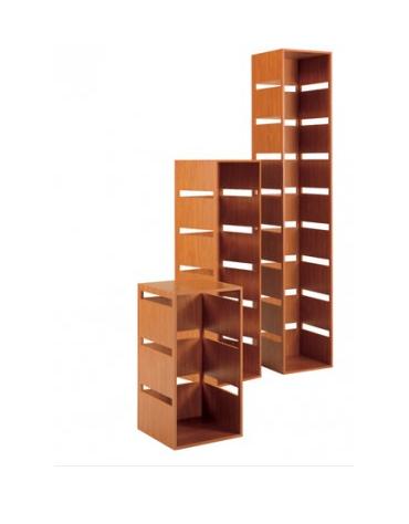 Colonna laminato con 5 tagli - colore ciliegio - Dimensioni cm 40x40x142h