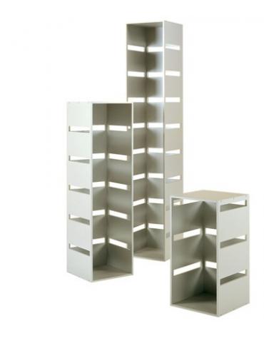Colonna laminato con 8 tagli - colore silver - Dimensioni cm 40x40x216h