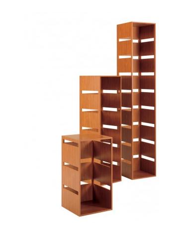 Colonna laminato con 8 tagli - colore ciliegio - Dimensioni cm 40x40x216h