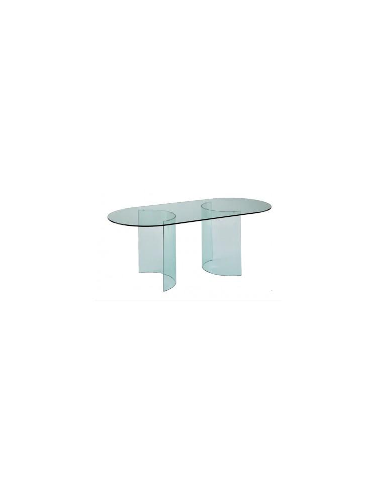 Basi per tavolo – coppia di cristalli curvi Dimensioni 60x30x72h ...
