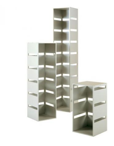 Colonna laminato con 3 tagli - colore silver - Dimensioni cm 40x40x77h