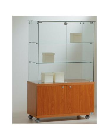 Vetrina cristalli temperati con mobiletto - profondità cm 40 - senza luci cm 80 x 40 x 130h