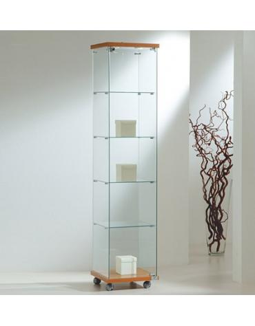 Vetrina in vetro temperato con 2 faretti alogeni - profondità cm 40 - cm 40 x 40 x 181h