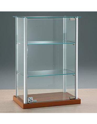 Vetrina da banco con montanti in alluminio - senza luci - cm 40 x 25 x 60h