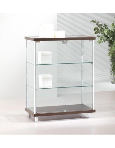 Banco vetrina con montanti in alluminio - senza luci cm 73 x 39 x 92h