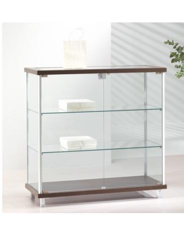 Banco vetrina con montanti in alluminio - senza luci - cm 93 x 39 x 92h