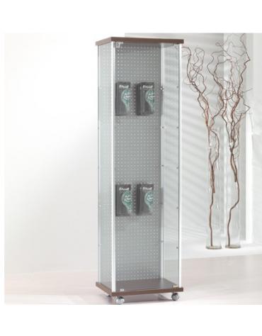 Vetrina con montanti in alluminio e schienale blisterato - senza luci - cm 53 x 39 x 183h
